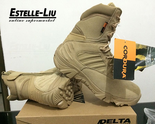 "7"" Delta Tactical Boots,Military Desert Combat Boots Shoes Summer Breathable Boots,SAND AND BLACK,EUR SIZE 39-45 Free Shipping(China (Mainland))"