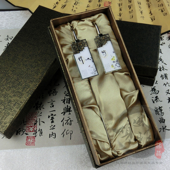 Meilanzhuju bookmark set custom metal bookmarks China wind Dragon Boat Festival gift to send small gifts to foreigners(China (Mainland))