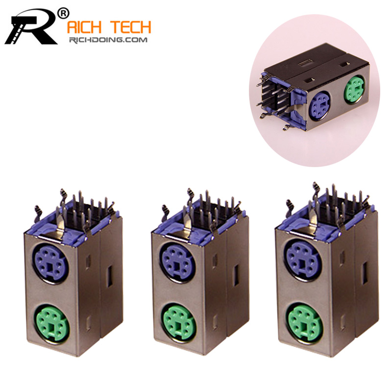 R Connector Purple/Green MINI DIN connector for computer mouse connected and keyboard connected Computer connector accessories(China (Mainland))