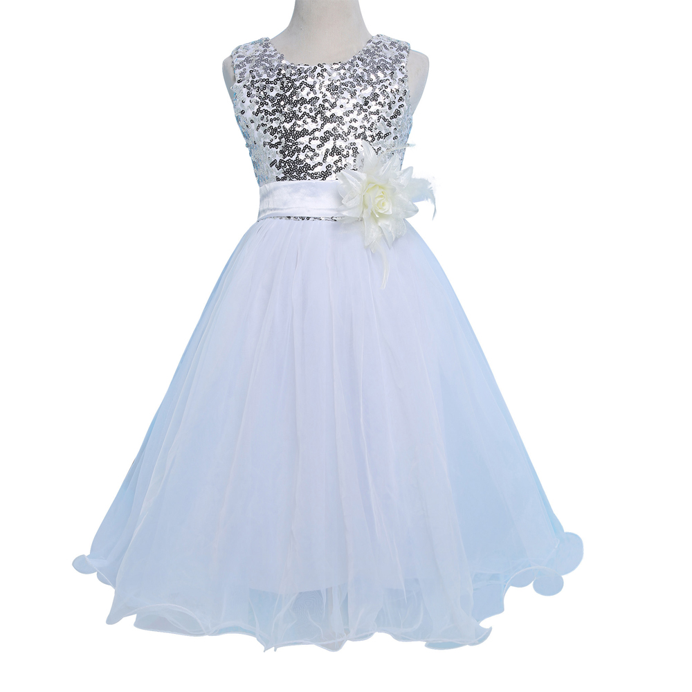2016 blue red white flower girl dress for wedding party for Flower girls wedding dress