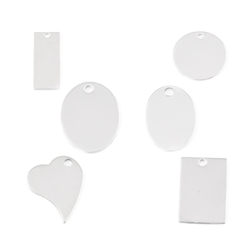 FUNIQUE 30PCs Silver Tone Stainless Steel Dog Tags Pendants Stamping Blanks Necklaces Pendants ID Bracelets Jewelry Making DIY(China (Mainland))