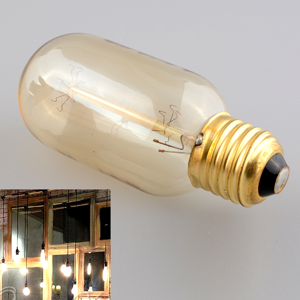 Edison Vintage Antique Style E27 Saving Bright T45 Classical 40W/220W Light Ceiling Lamp Glass Bulb(China (Mainland))