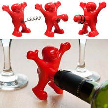 Happy Man Opener Multifunction Stainless Steel Red Wine Beer Soda bottle stopper for Kitchen Bar Tool gift wedding free shipping(China (Mainland))
