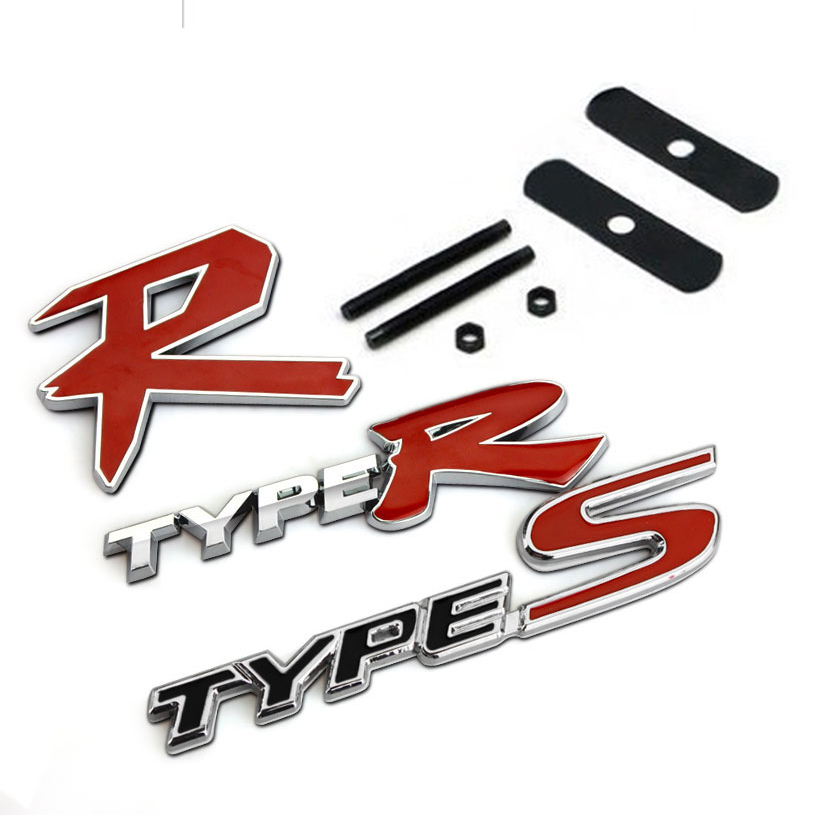 3D TYPER TYPE R Racing Emblem Badge Logo Decal Sticker Stickers TYPES TYPE S Metal Front Grill Grille Badge Emblem For HONDA KIA<br><br>Aliexpress