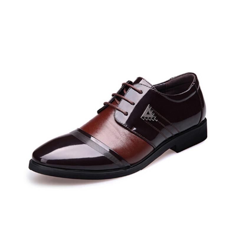 を新しい春レザーシューズメンズカジュアルシューズビジネス英語a男ドレスネクタイ靴増加通気性38,44コード