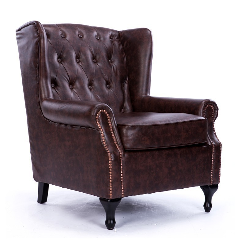 new classical european american leather sofa chair furniture vintage