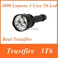 TrustFire 3T6 3800 Lumens 3 x CREE XM-L T6 5 Mode LED Flashlight warerproof  Torch Light  + Extendable Tube by 3 x18650 battery
