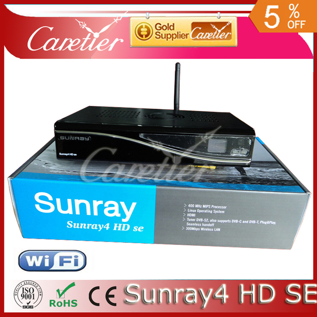 Satellite TV Receiver Sunray4 800hd se sr4 Triple tuner sim A8P Sim Card 300M WIFI DHL(3pcs sr4 a8p)
