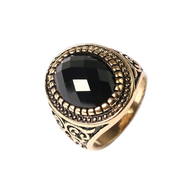 fashion jewelry vintage mens ring 18k gold silver