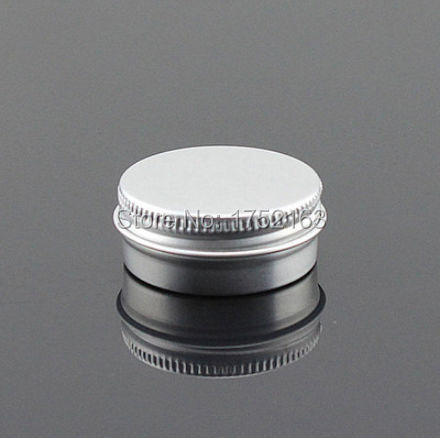 100 PCS/LOT-15g aluminum cream jars,cosmetic container,Small Bottles,eyeshadow container,cream jar,Cosmetic Jar Prices - Mini packing world store