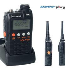 MINI Walkie Talkie baofeng UV 100 Dual Band Two Way Radio  UHF VHF FM VOX Pofung UV-100 CB radio Dual Display