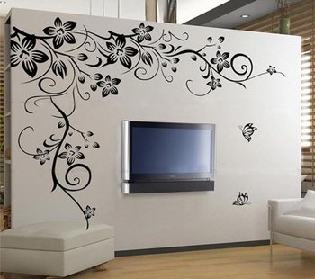 Free shipping Stylish home improvement personality bedroom, living room TV backdrop stickers,big size wholesale 8837