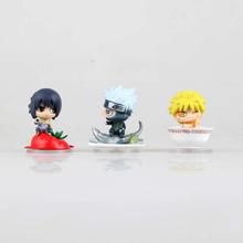 Anime Naruto Mini PVC Action Figure Uzumaki Sasuke Kakashi Lunch Ver. Figures Toys Collectible Model Toy - Happy & Fun Kids store