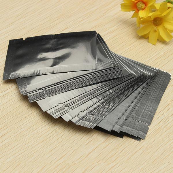 Wholesale Price High Quality 100pcs 5*7CM Silver Aluminum Foil Mylar Bag Vacuum Bag Sealer Food Storage Package Brand New(China (Mainland))