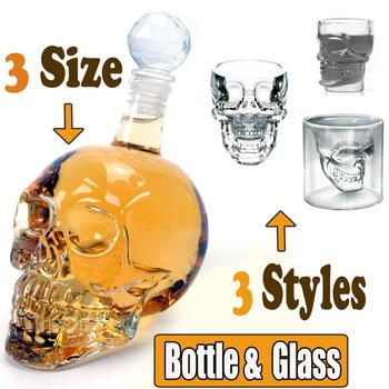 Hallowmas Gift Doomed Crystal Head Vodka Skull Bottle Sets (1000ml 500ml 330ml for Bottle & 55ml 65ml 75ml for Glass / mug )