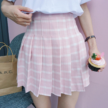 Buy 2016 New Japanese Style Plaid High Waist A-line College Wind Casual Short Female Skirt for $8.80 in AliExpress store