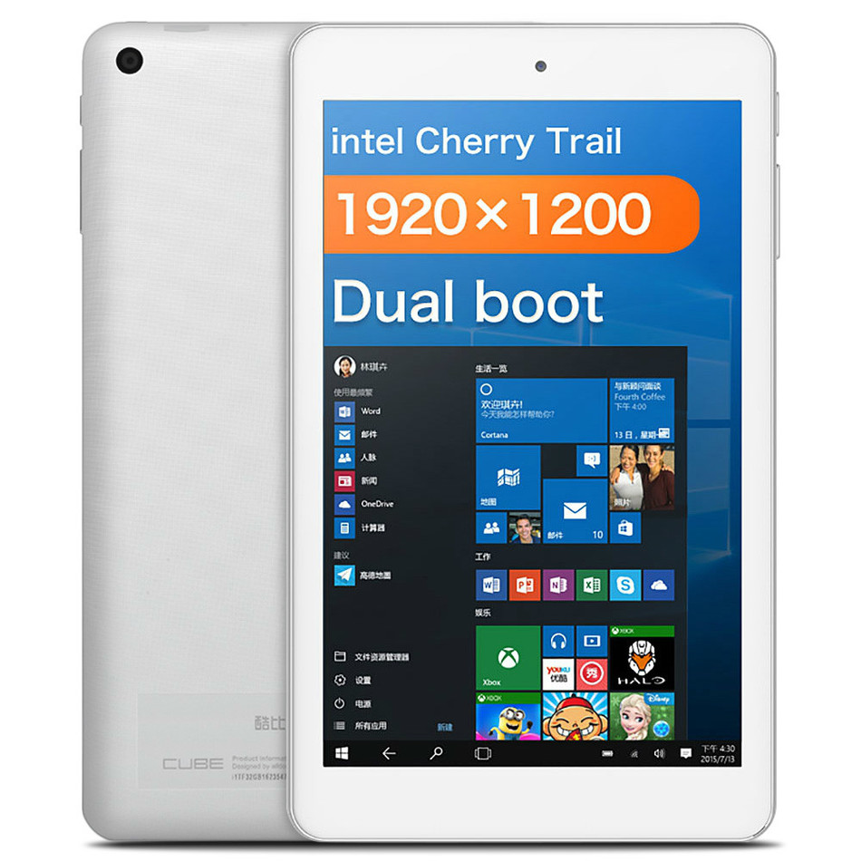 CUBE iWork8 Air Tablet PC Windows 10 Android 5.1 8.0 inch IPS Screen Cherry Trail Z8300 64bit Quad Core 1.44GHz 2GB RAM 32GB ROM(China (Mainland))