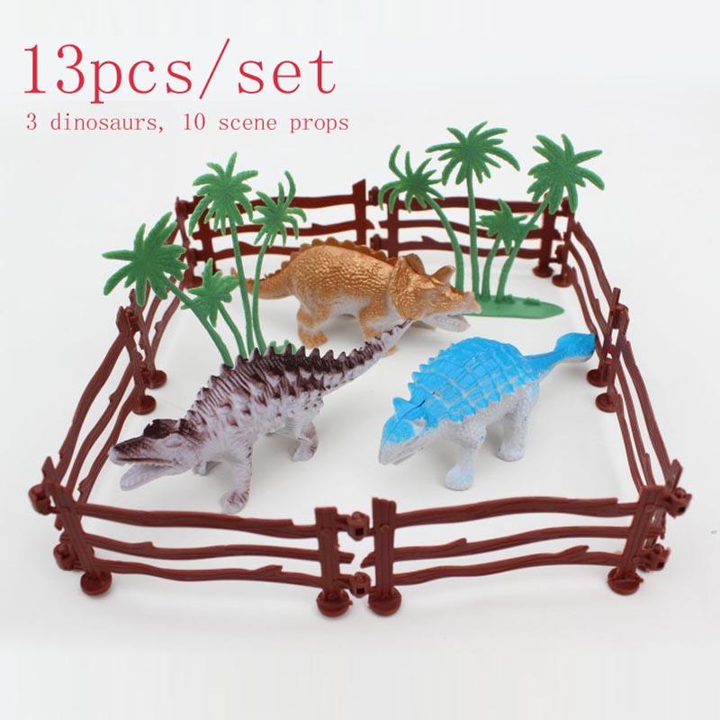 Free shipping Brand new Simulation dinosaur park hollow plastic toy animals 13pcs/set rex dinosaur model Soldier Set boy gift(China (Mainland))