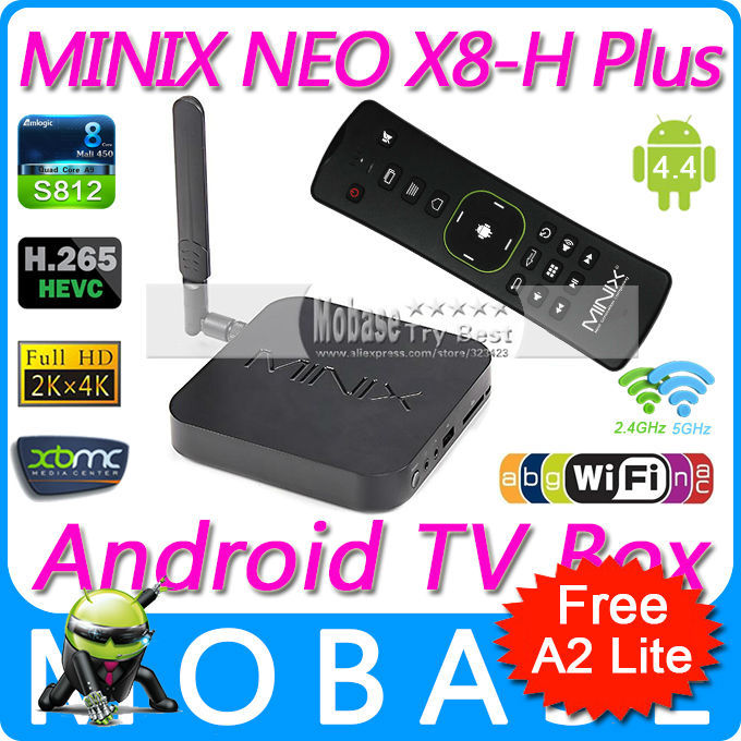 MINIX NEO X8-H Plus Android TV Box Amlogic S812 Quad Core 2.0GHz 2G/16G 802.11ac 2.4/5GHz WiFi H.265 4K 2160P XBMC IPTV Smart TV(China (Mainland))
