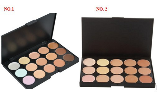 Professional 15 Colors Concealer Camouflage Makeup Neutral Palette, brighten face care cosmetic(China (Mainland))