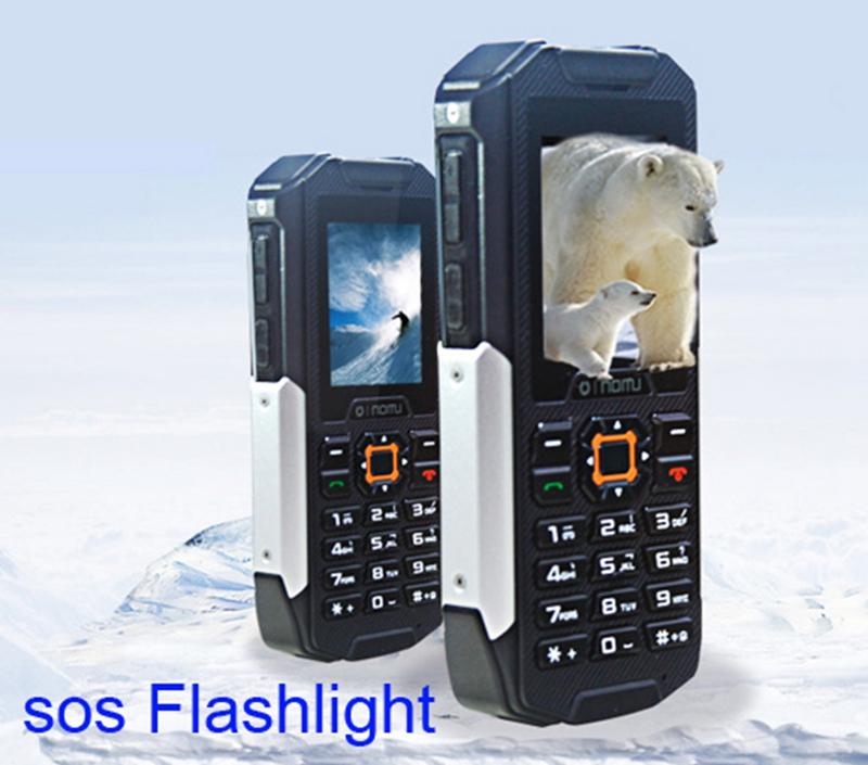Original OINOM LMX2 IP67 Waterproof phone Big LED Flashlight 2800mAH Battery Dual Sim cell phone with Russian Keyboard Option(China (Mainland))