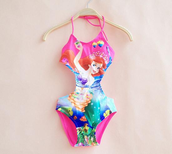 2015 Summer new Brand Masha Bear cartoon Girls Swimsuit One Piece 3-10y Kids Swimwear Children Clothes Swimming Clothing(China (Mainland))