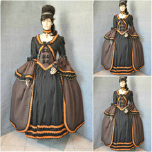 Freeship!Customer-made Red Vintage Costumes Cosplay Renaissance Dress Steampunk dress Gothic Cosplay Halloween Dresses C-740