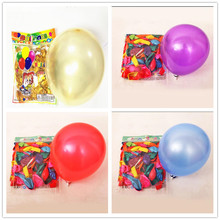 Free shipping 100pcs Latex pearly balloons10inch1.3g round Multicolor balloons Wedding Party Birthday decoration Balloons(China (Mainland))