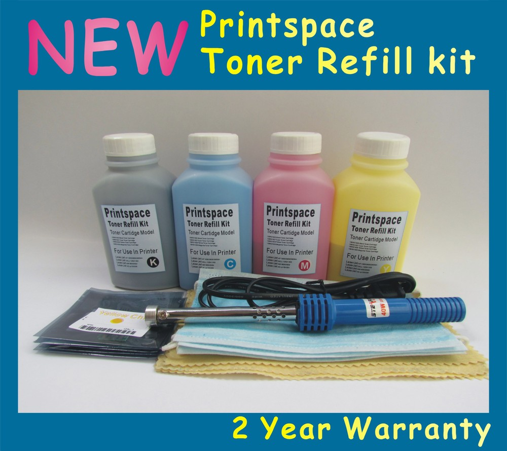 Фотография 4x NON-OEM Toner Refill Kit + Chips Compatible With HP 305A CE410A - CE413A LaserJet Pro 300 color MFP M375nw M351(2.8K+2.6K)