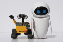 Hot! 1pc 6cm Wall-E Robot & 9cm EVE PVC Action Figure Wall E Collection Model Toys Dolls(China (Mainland))