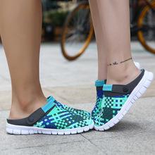 Nuovo arrivo di estate coppia & lovers zoccoli pantofola degli uomini del foro cava di ventilazione sandali zoccoli zoccoli da spiaggia mesh traspirante zoccoli(China (Mainland))