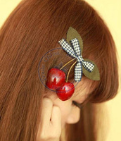 cherry cute hair clips hairpins ties Accessories decor Lady girl's multi color option CN post