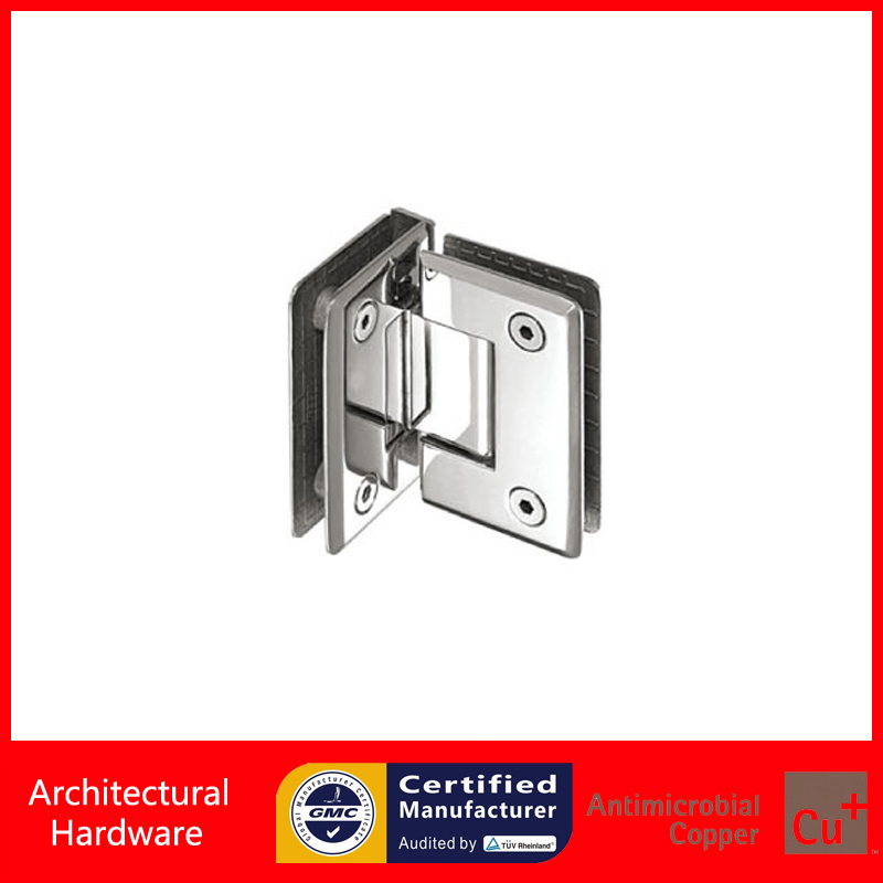 90 Degree Shower Door Hinge 304 Stainless Steel Spring Hinges Glass Clamp Double Side Glass to Glass Fitting DC-1013(China (Mainland))