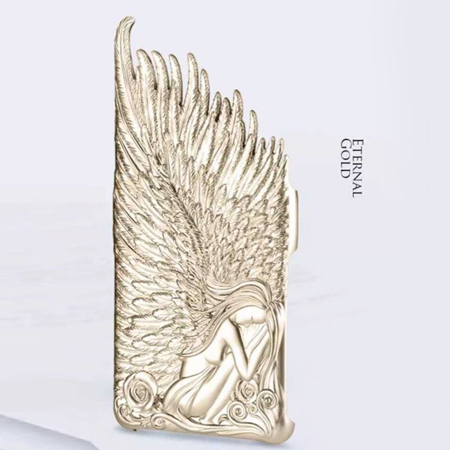 Luxury Back Cover Case Iphone 6 4.7 inch Angle wings Hard Plastic Electroplate Coque Crazy Plating Relief shining PC Phone Cases - Edward Technology Co,ltd store