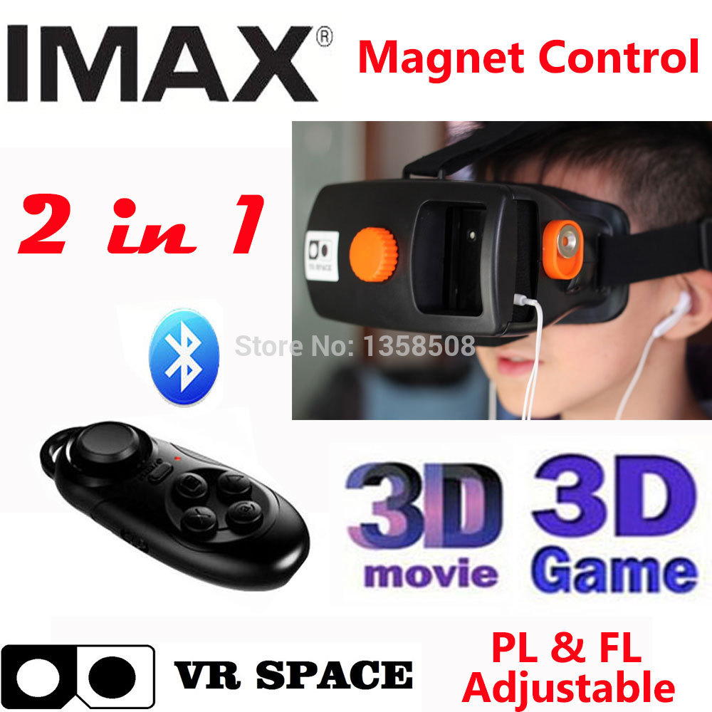 Smart Phone Bluetooth Wireless Mouse / Remote Control Gamepad + VR Space Headmount 3D VR Virtual Reality Glasses<br><br>Aliexpress