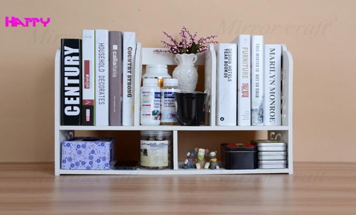 Eco Friendly Simple Office Book Shelves Desktop Small Book Shelf Desktop Decoration Ikea Shelf