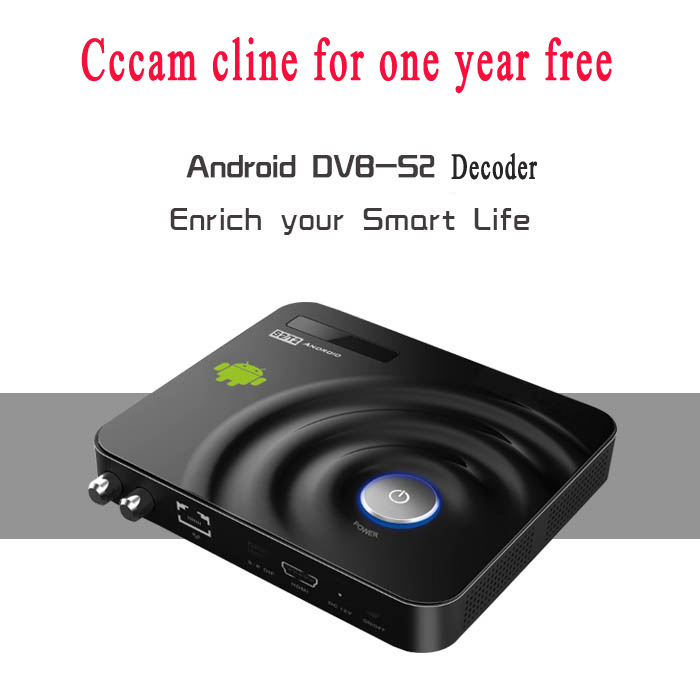 Hottest Android TV Box DVB-S2 decoder satellite kodi tv boxes with 1 year cccam Cline Europe support remote control(China (Mainland))