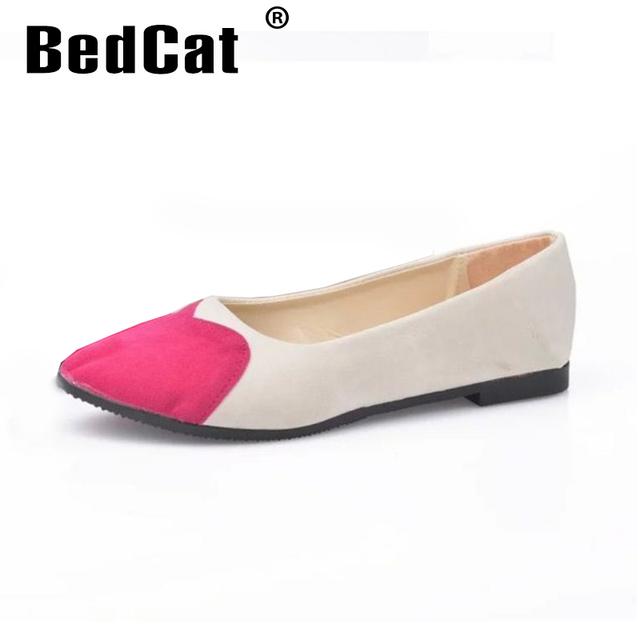 Женская обувь дамы на плоской подошве новый высокое качество удобные острым носом ...