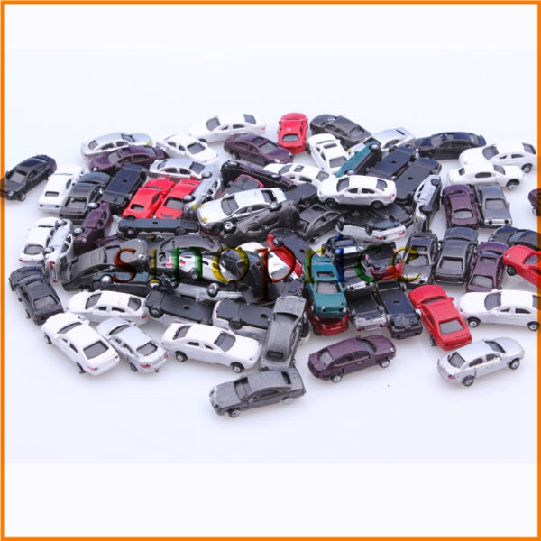 100pcs Scale 1:150 Gauge N Painted Plastic Model Car for Building Train Layout(China (Mainland))