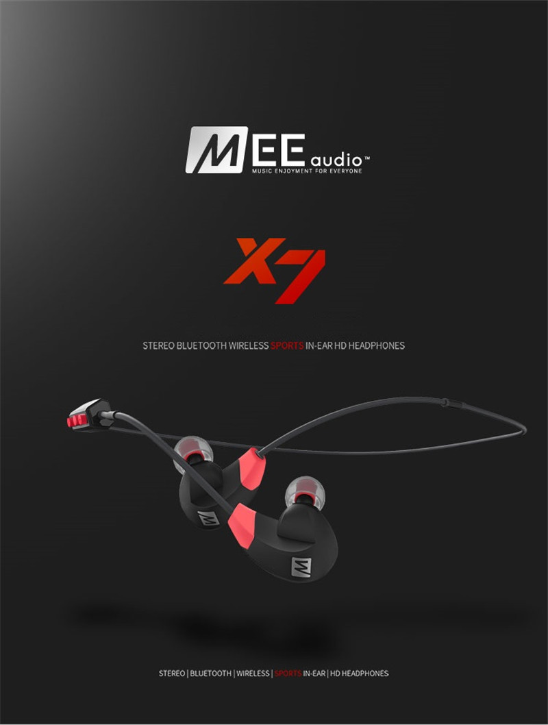 DHL Free! MEE Audio X7 Stereo Wireless Headphones Sports In-Ear Bluetooth 4.1 Earphones With Mic PK PB2.0 Wireless Headset