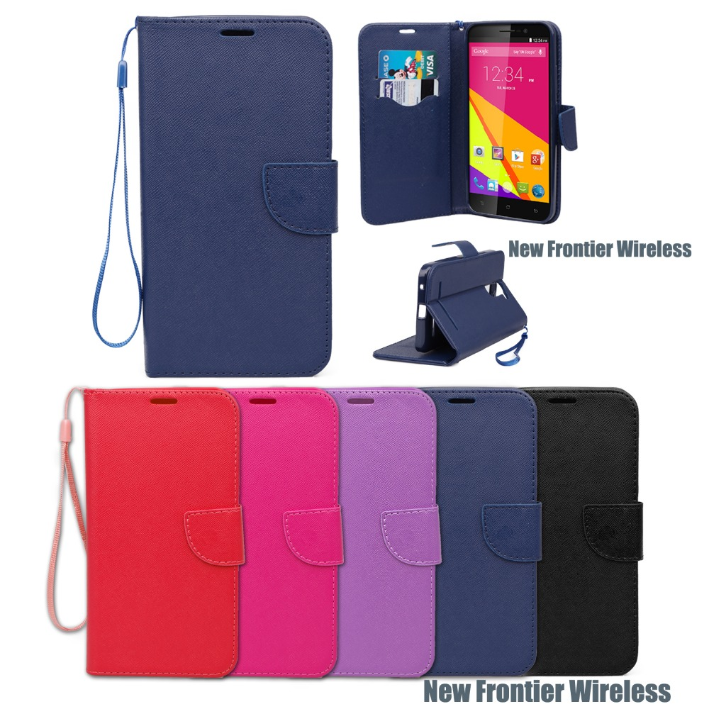 Western leather cell phone case For Blu Studio 6.0 LTE Flip Folio Wallet Case Mobile Phone Cover(China (Mainland))