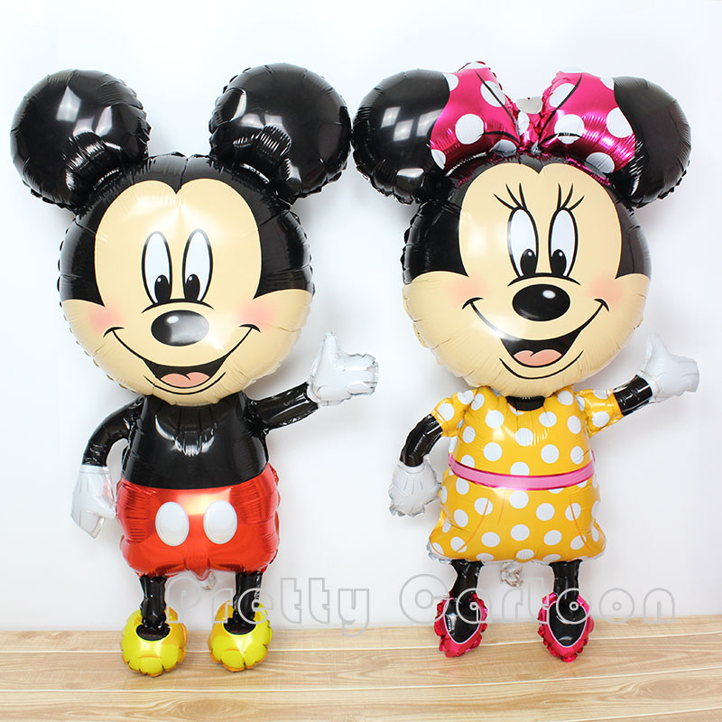 Large 45inch mickey balloons Minnie Mouse Airwalker Foil Balloon Mickey Mouse balloon minnie mouse&mickey mouse party supplies(China (Mainland))