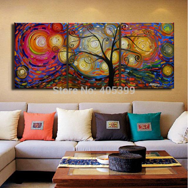 3PCS 40*50cmx3p Handmade Modern Canvas Oil Painting Wall Art ,Free Shipping Worldwide JYJ029