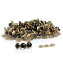 Hot 100pcs 10MM  Plastic Safety Eyes For Teddy Bear Doll Animal Puppet Craft(China (Mainland))