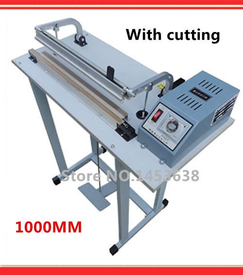 1000MM Pedal sealer electrical impulse sealing machine aluminum foil bags packaging sealer plastic pocket closure(China (Mainland))
