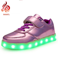 Color 11 Style Light Children Shoes LED Lighted Shoes Light Up Sport Casual For Child