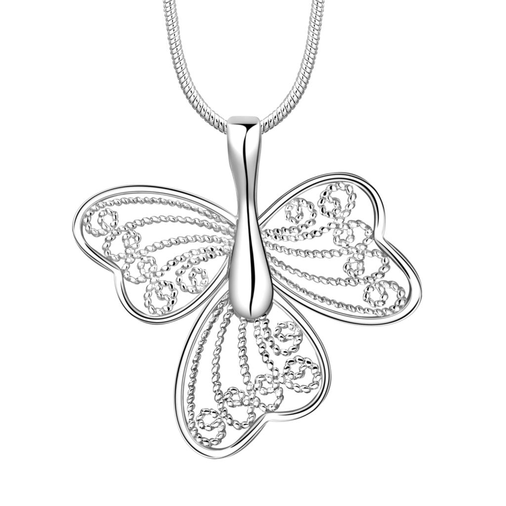 Simple Personalized silver plated Jewelry Butterfly Pendant Necklace Fashion woman(China (Mainland))