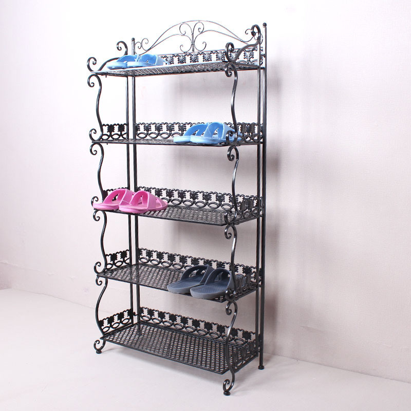 Europe and -style wrought iron shoe rack shelving seven three hundred forty-five simple multi- layer slippers<br><br>Aliexpress
