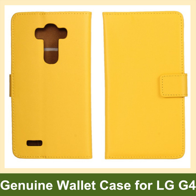 Genuine Leather Wallet Flip Cover Case for LG G4 H815 H818 with Card Slot Holder 100pcs/lot Free Shipping