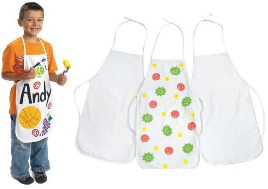 3PCS/LOT.Paint unfinished canvas apron,38x59cm.Early learning educational toys.Kids DIY.Drawing toys.Wholesale.Crafts.(China (Mainland))